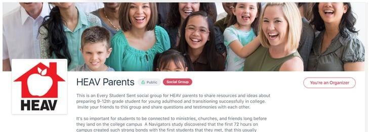 HEAV parent group image